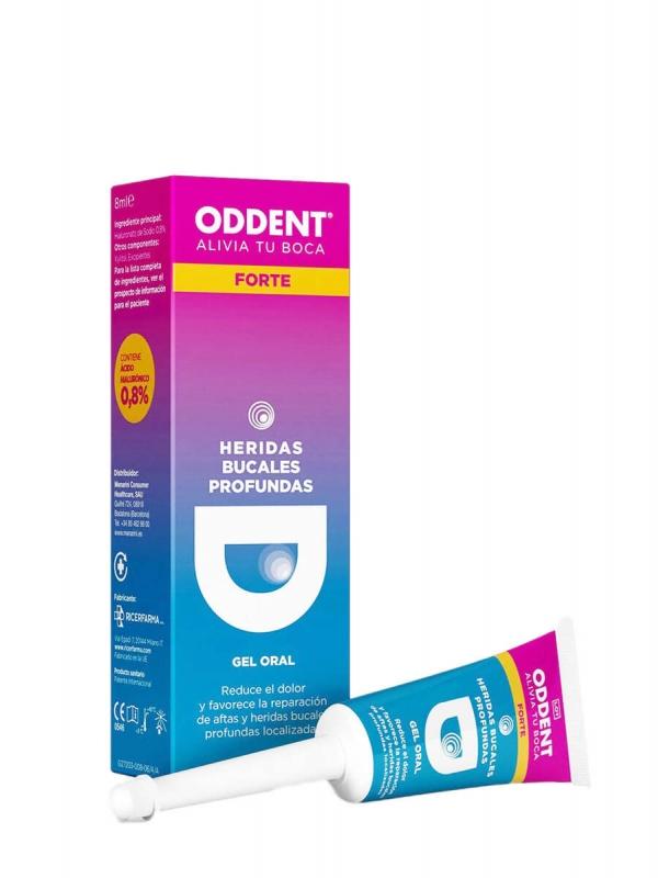 Oddent forte gel oral heridas bucales profundas 8ml