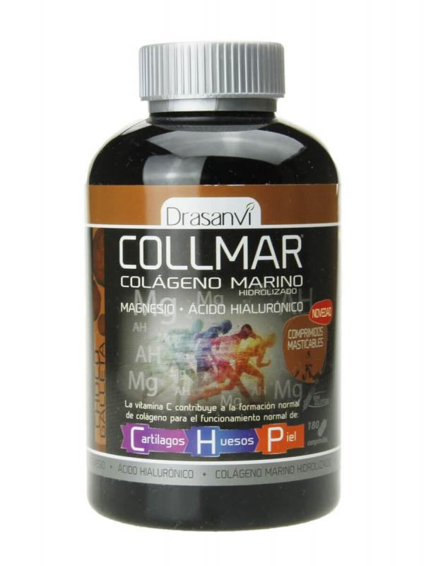 Collmar colágeno marino sabor galleta de chocolate 180 comprimidos masticables