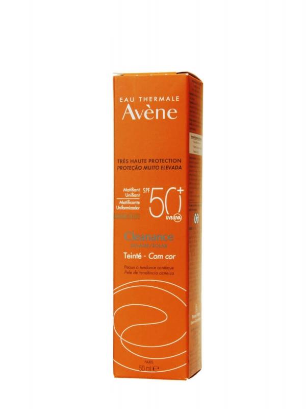Avene cleanance protector solar facial con color spf 50+ 50ml