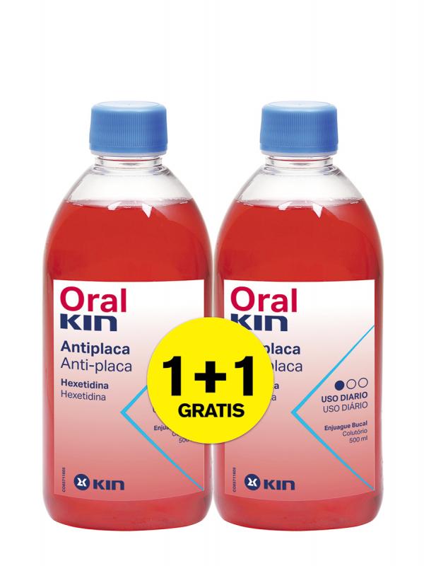 Oralkin enjuague bucal 500 ml pack 2x1