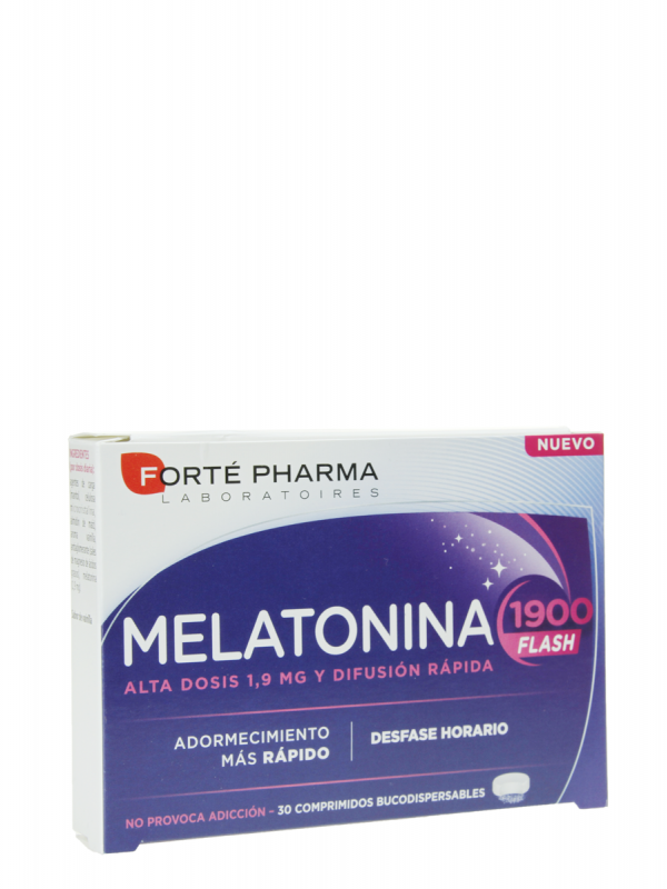 Forte pharma melatonina 1900 flash 30 comprimidos bucodispersables