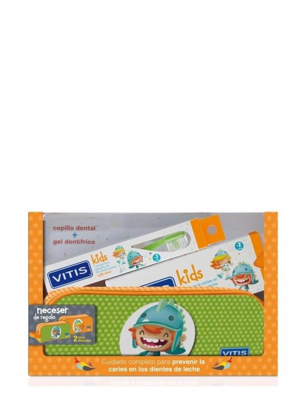 Vitis kids gel dentífrico + cepillo + gadjet