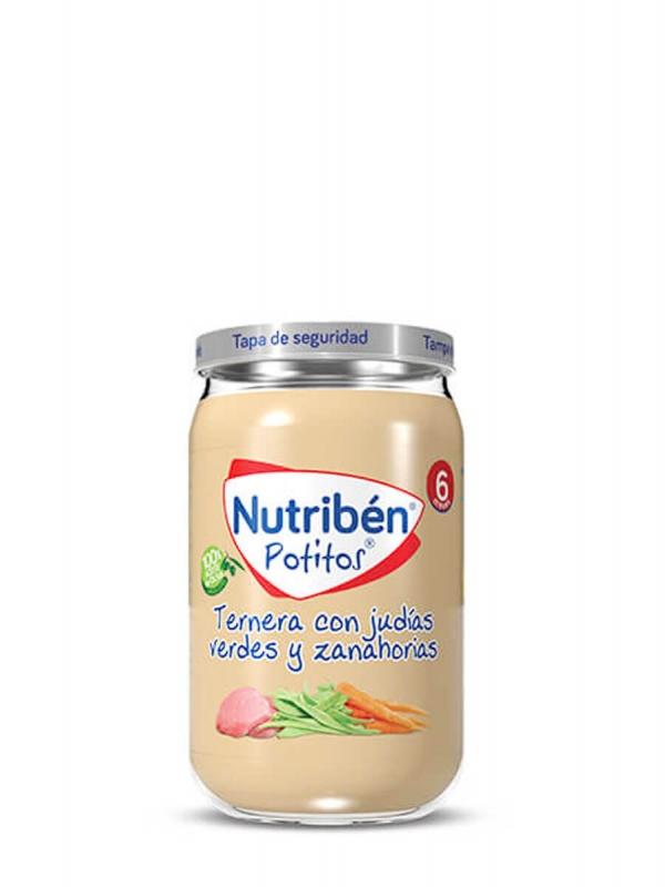 Nutriben potitos ternera con judías verdes y zanahorias 235gr