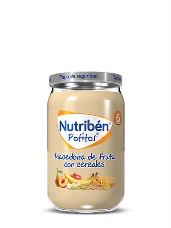 Nutriben potito macedonia de frutas con cereales 235gr