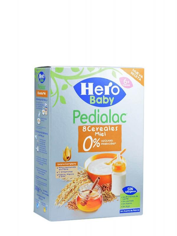 Hero baby pedialac 8 cereales miel 340 gr