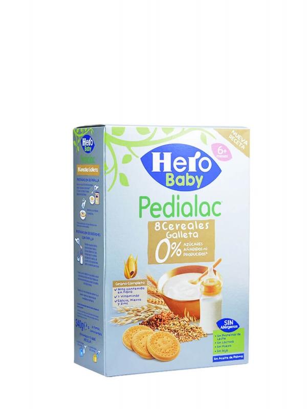 Hero baby pedialac papilla 8 cereales con galleta 340 gr