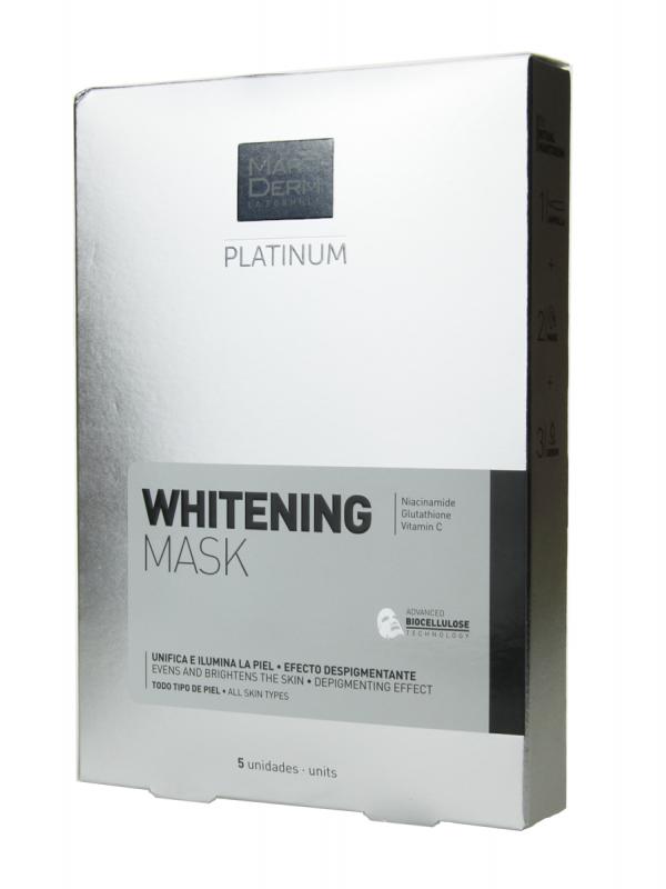 Martiderm platinum mask whitening 5 unidades