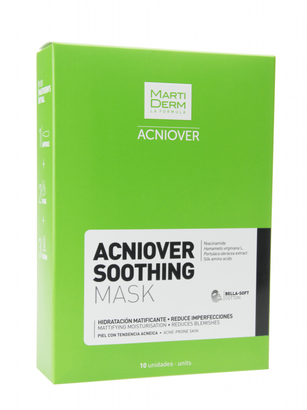 Martiderm mask acniover soothing 10 unidades