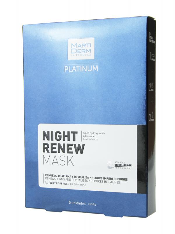 Martiderm platinum night renew mask 5 unidades