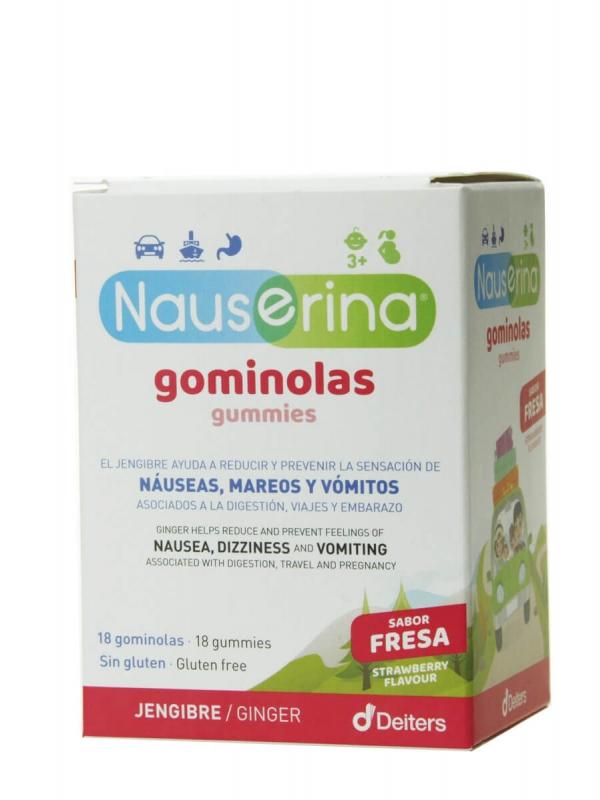 Deiters nauserina sabor fresa 18 gominolas
