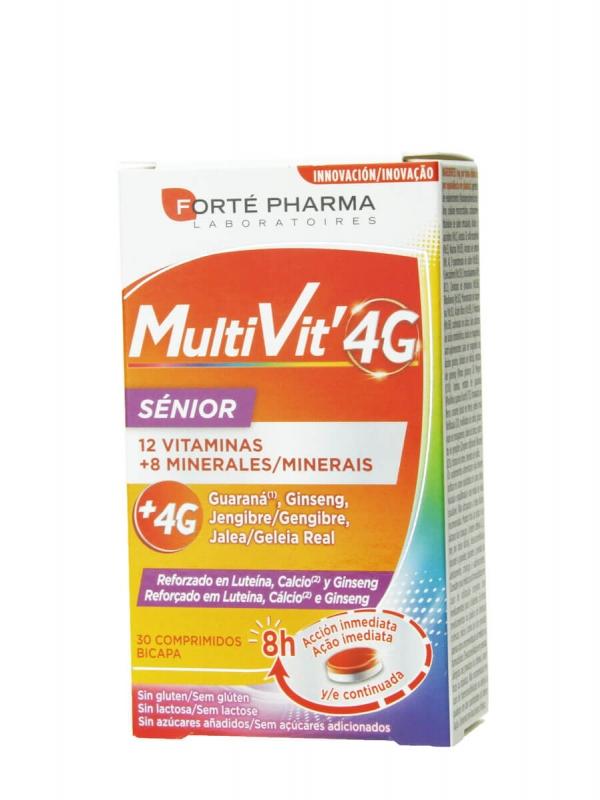 Forte pharma multivit 4g senior 30 comprimidos