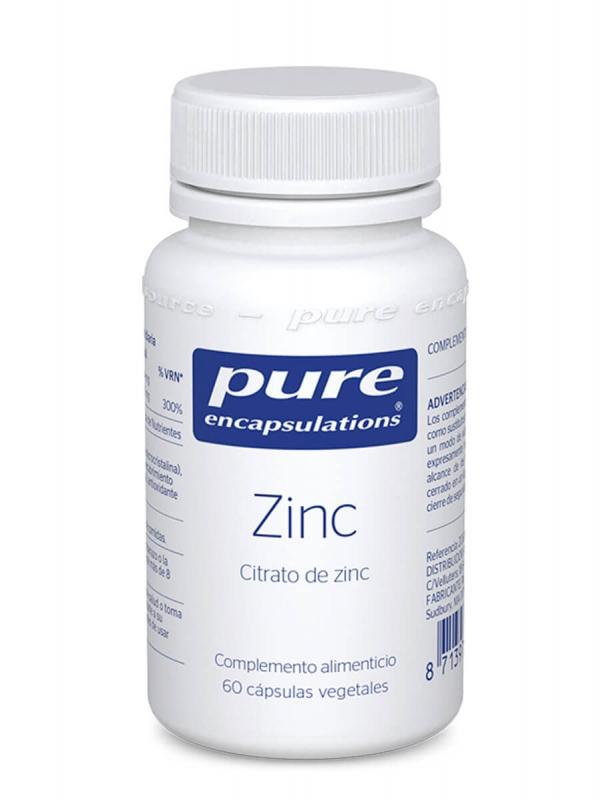 Pure encapsulations zinc 60 cápsulas