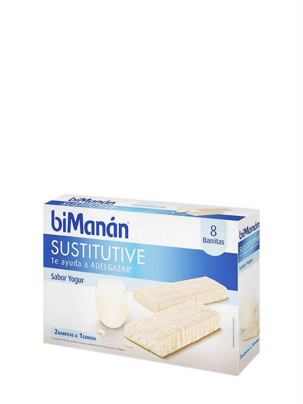 Bimanán sustitutive sabor yogur 8 barritas