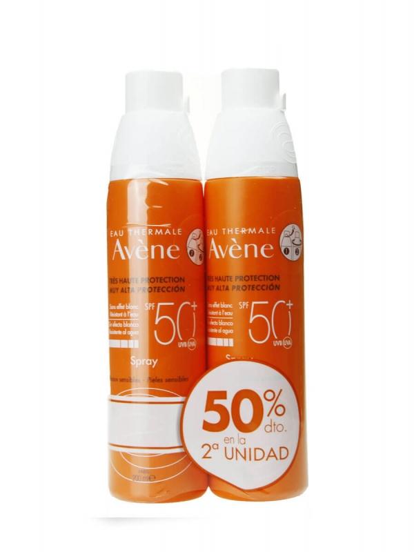 Avene duplo protección solar spray spf50+ 2x200ml