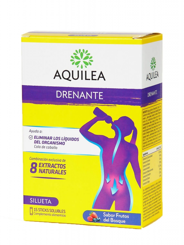 Aquilea drenante sabor frutos del bosque 15 sticks solubles