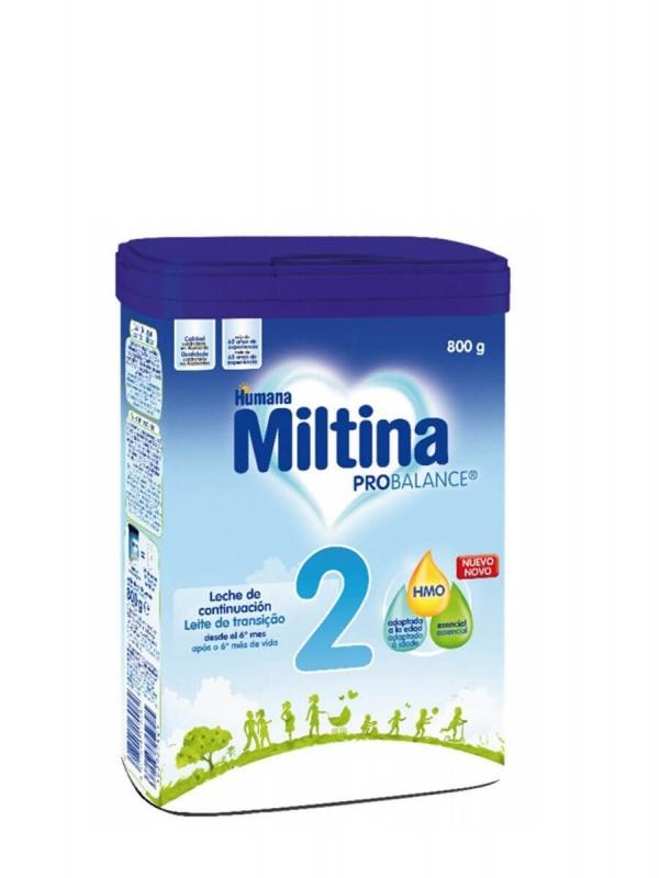 Miltina 2 probalance leche de continuación 800 gr