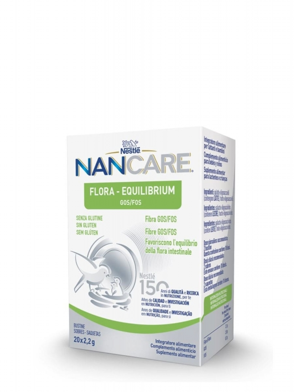 Nestlé nan care flora equilibrium 20 sobres x 2,2 gr