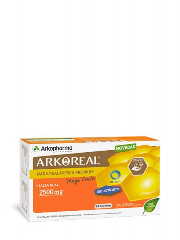 Arkopharma arkoreal jalea real bio sin azúcar 20 ampollas