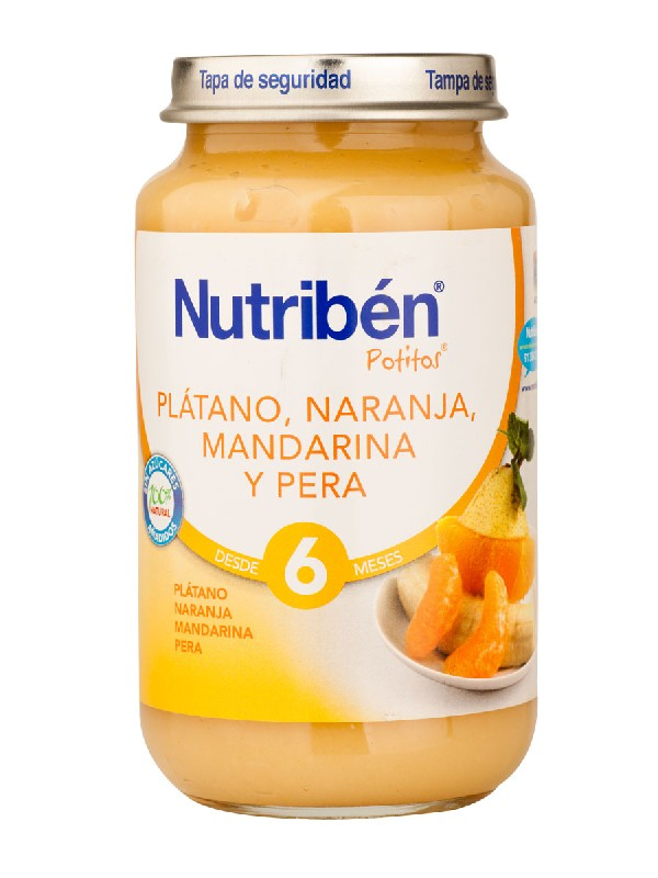 Nutriben platano naranja mandarina y pera 250 gr
