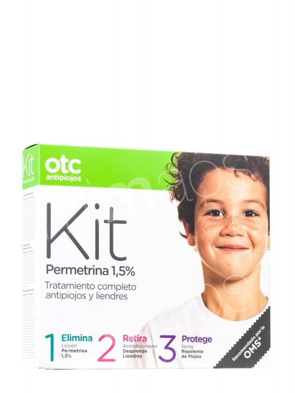 Otc permetrina locion + acondicionador+ spray repelente