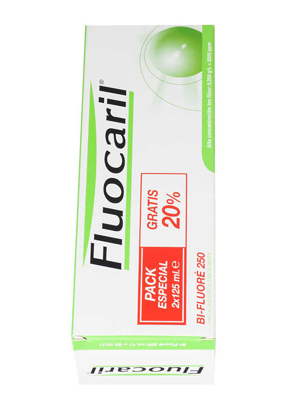 Pack ahorro pasta fluocaril bi-fluoré 2 x 125 ml
