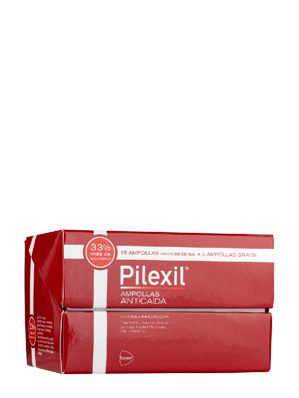 Pilexil ampollas anticaída 15 unidades