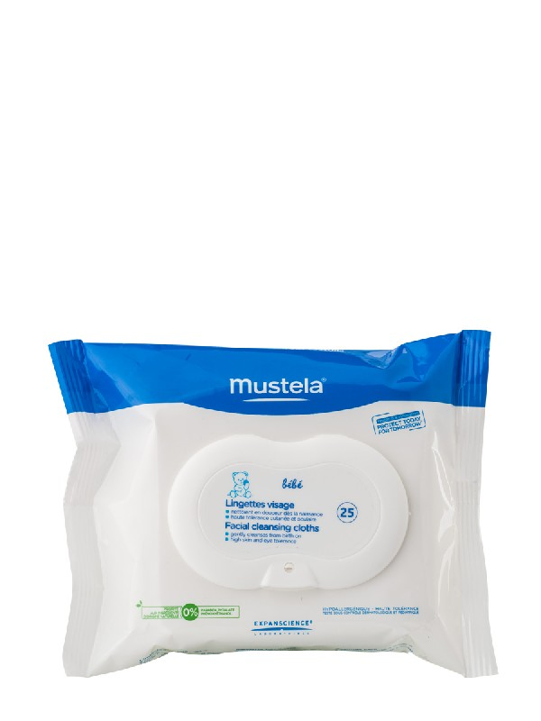 Mustela toallitas para la cara physiobebe 25 unidades