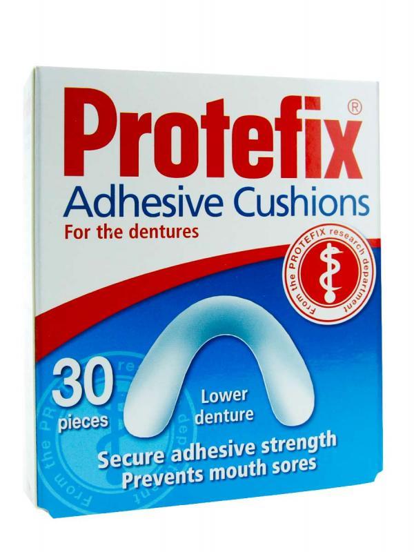 Protefix almohadillas inferiores de fijación dental 30 unidades