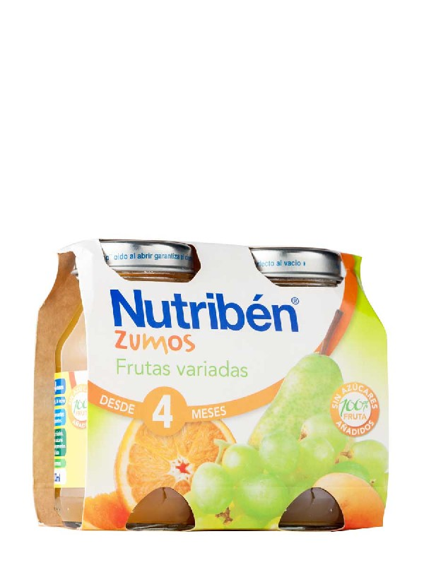 Nutriben zumo frutas variadas 130 ml 2 unidades bipack