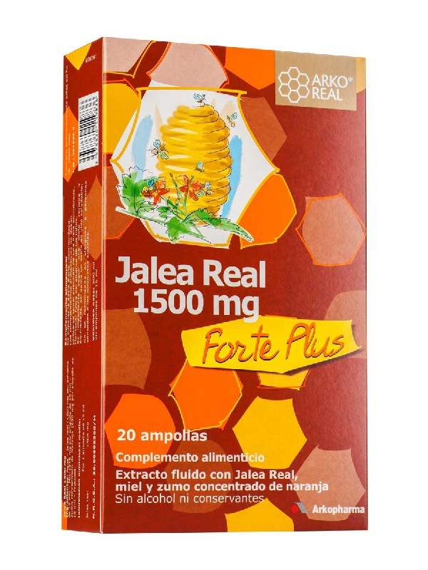 Arkopharma jalea real fresca forte 1500 mg 20 ampollas