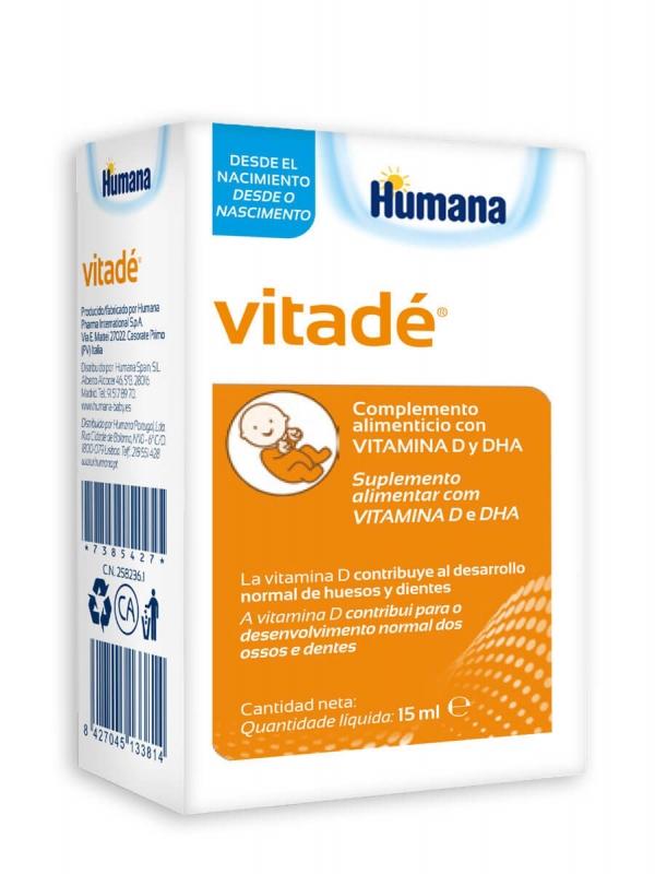 Humana vitadé vitamina d3 y dha 15ml