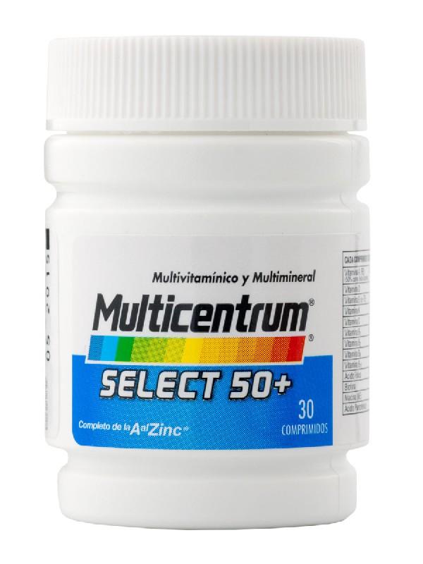 Multicentrum select 50+30 comprimidos