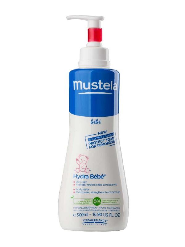 Mustela hydra leche corporal hidradante para cuerpo del bebé 500 ml