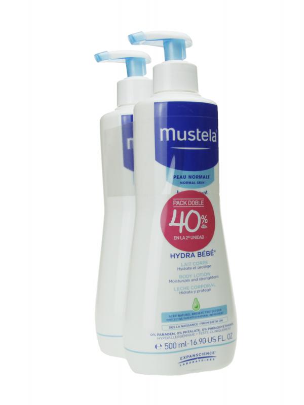 Mustela hydra bebé leche corporal 2 unidades de 500 ml