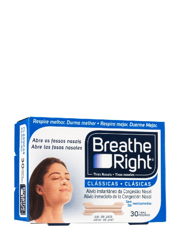 Breathe right tira nasal tamaño grande 30 unidades