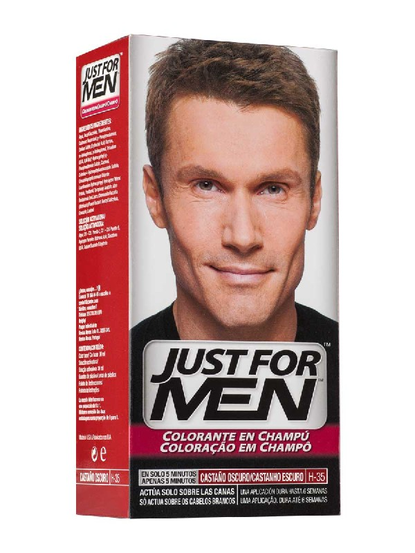 Just for men champu color 30 cc castaño oscuro