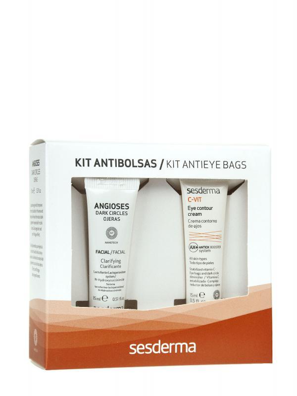 Sesderma kit antibolsas contorno de ojos + ojeras 2x15ml