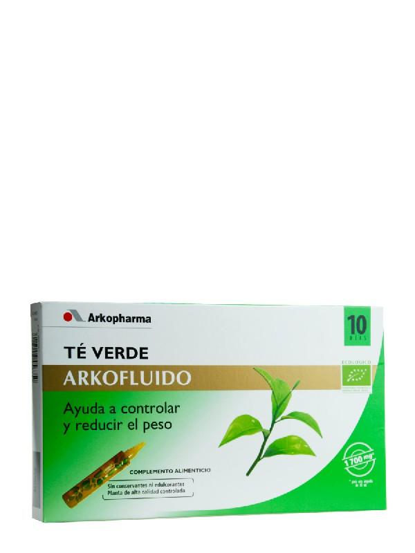 Te verde arkofluido ampollas 10 viales