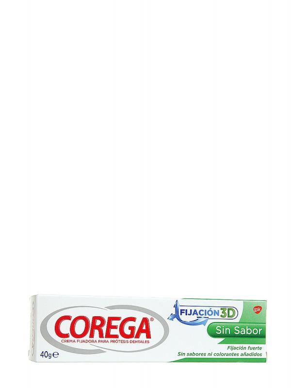 Corega crema fijadora sin sabor 40g