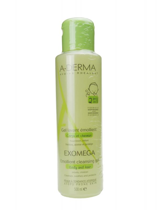 A-derma exomega gel limpiador emoliente 2 en 1 500 ml