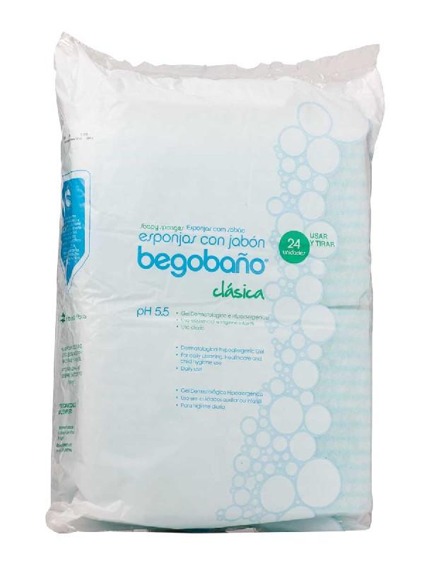 Begobaño esponjas con jabón 24 unidades
