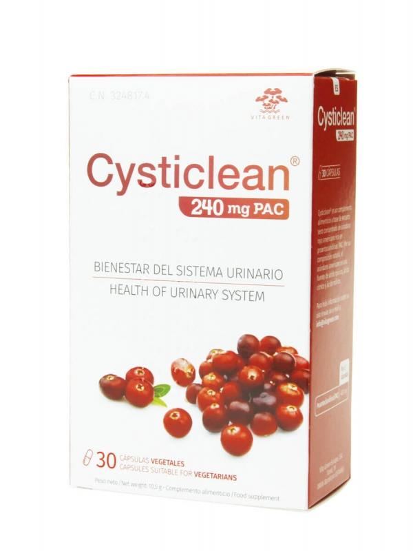 Cysticlean 240 mg 30 cápsulas