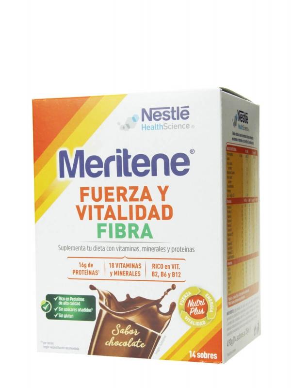Meritene fuerza y vitalidad fibra 14 sobres sabor chocolate