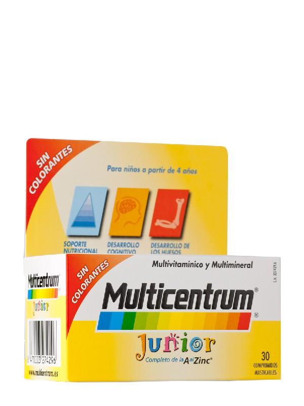 Multicentrum junior  frambuesa/limon 30 comprimidos