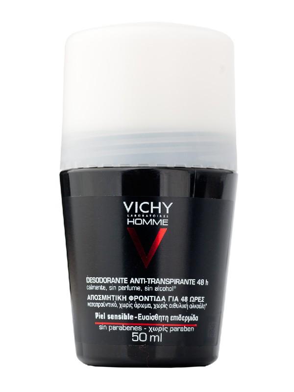 Vichy desodorante piel sensible homme 50 ml