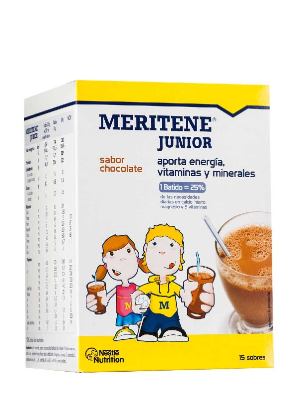 Meritene junior  chocolate 30 gr 15 unidades