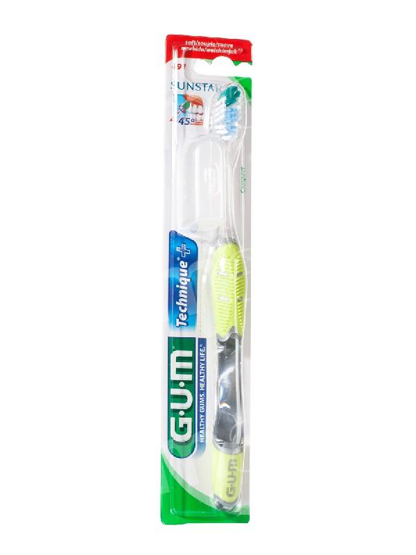 Cepillo dental adulto gum-491 suave