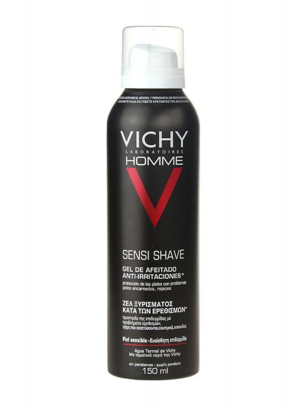 Vichy homme gel-crema de afeitado sin jabon 150ml