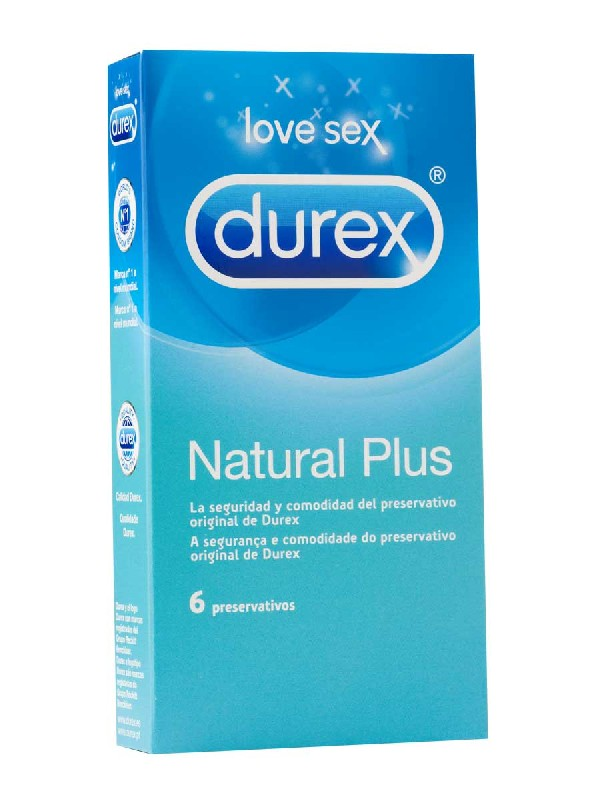 Durex preservativos natural plus easy on 6 unidades