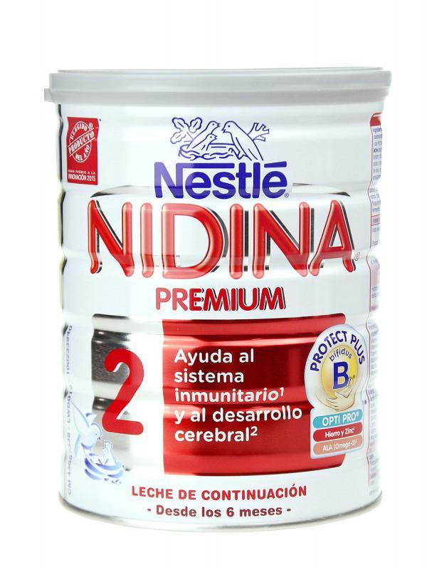 Nestlé nidina 2 premium leche de continuación 800 gr